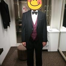 新郎衣装(実際に着たもの)