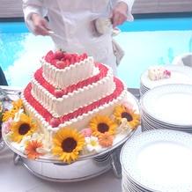 インパクトのあるケーキでした。