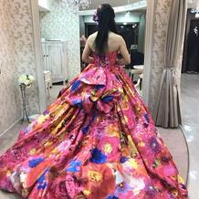 蜷川実花さんのドレスです。