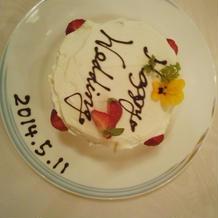 試食会用ケーキ(ケーキカット前)