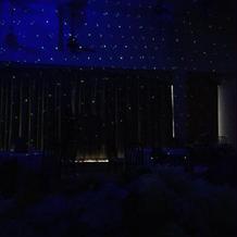 ライトの演出。