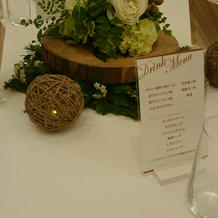 テーブル造花
