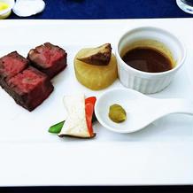 肉料理*国産牛ロースのポアレ