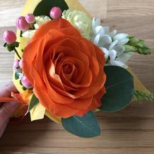 好きな色の花束を用意してくれました