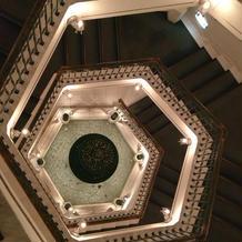 上から見た螺旋階段