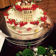 オリジナルケーキを作ってもらいました