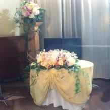 結婚式当日の新郎新婦が座る所です☆