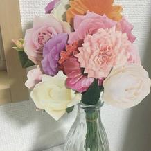 書いてもらったお花のメッセージカードです