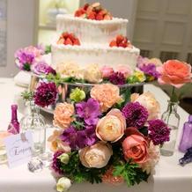 ケーキの装飾も素敵でした