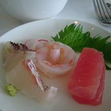 真鯛と鮪 海の恵み 薔薇の祝い飾り