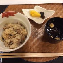 丹波しめじの御飯。美味でした。