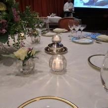 テーブルキャンドルが素敵でした