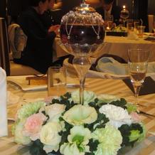 卓上装花とキャンドル