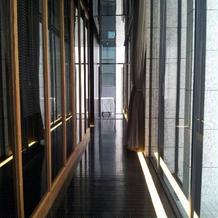 レストラン廊下