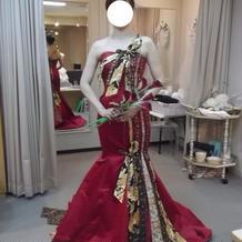 和風のマーメイドドレス