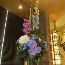 ゲストテーブルの花です。