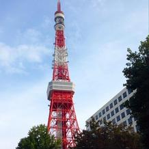教会入口から撮った東京タワー