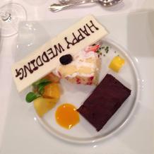 デザート、生ケーキ付き
