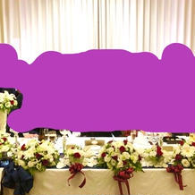 新郎新婦席の装花