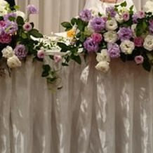 メインテーブル装花。