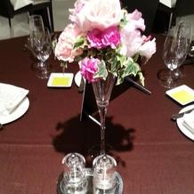 ゲストテーブル装花2