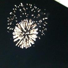 ホテル20周年の記念に花火がありました!