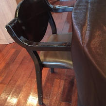 生後半年の子に用意された椅子。。。