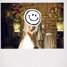 結婚式の様子です