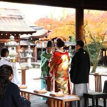 豊国神社での挙式