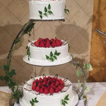 人気のウエディングケーキです。