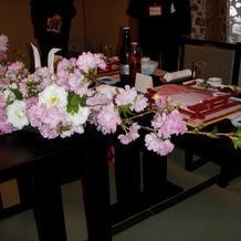 桜も可愛く飾っていただきました。