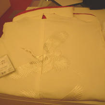 TUTUの白無垢。定番の柄と配色