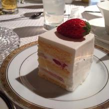 ケーキ美味しかった!