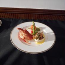 15500円のフレンチコースの魚料理