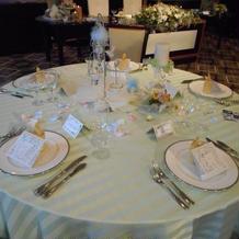 披露宴会場2 列席者用テーブル