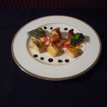 15500円のフレンチコースの前菜