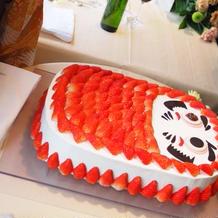 一目惚れしただるまケーキ。