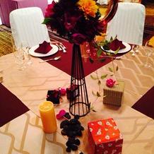素敵なテーブル装飾