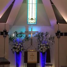 教会の前の方