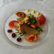 試食の料理