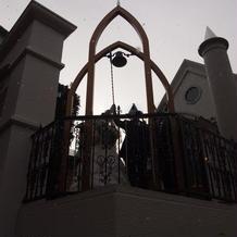 鐘を鳴らして螺旋階段へ。