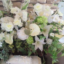 チャペル内装花。勿論別料金。
