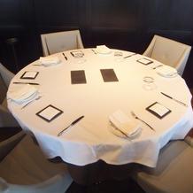 丸テーブルの雰囲気