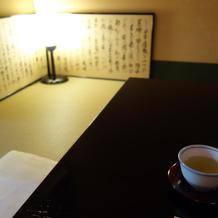 待合室でのお茶