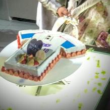 所属チームのユニフォーム型ケーキ