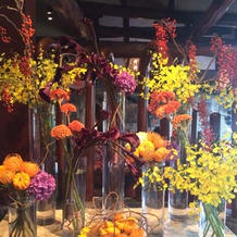 2階待合スペースの装花