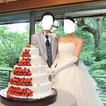 ケーキカットは一応しました。