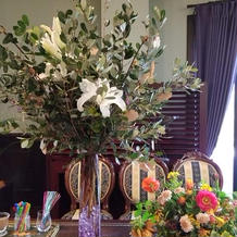 受付の所に大きな花が豪華に生けてあった