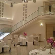 披露宴会場の階段