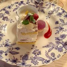 珍しいイチヂクのショートケーキ
